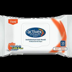 ACTIVEX - Antibacterial Wet Wipes 56 Active Pieces 1+1