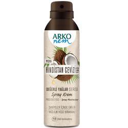 ARKO - Değerli Yağlar Hindistan Cevizi Nemlendirici Sprey Krem 150 ml