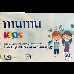 MUMU - Mumu 3 Katlı Steril Çocuk Maskesi 50 Adet