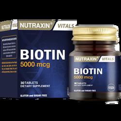 NUTRAXIN - Biotin 5000 mcg 50 Tablet