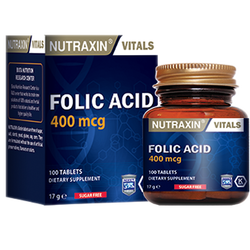 NUTRAXIN - Folic Acid 400 mcg 100 Tablet