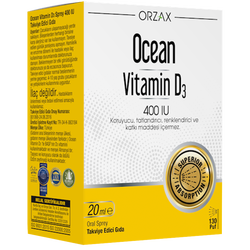 ORZAX - Ocean Vitamin D3 400IU 20 ml Oral Spray