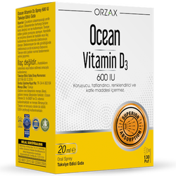 ORZAX - Ocean Vitamin D3 600IU 20 ml Oral Spray